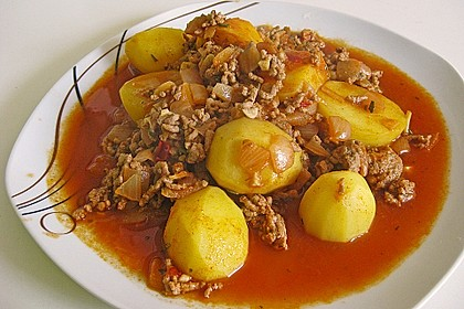 Hackfleisch-Kartoffelgulasch