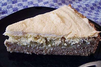Rhabarberkuchen mit Ei-Rahmguss und Baiser 1