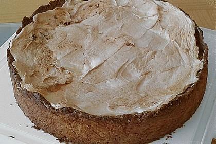 Rhabarberkuchen mit Ei-Rahmguss und Baiser