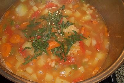 Serbische Bohnensuppe 13