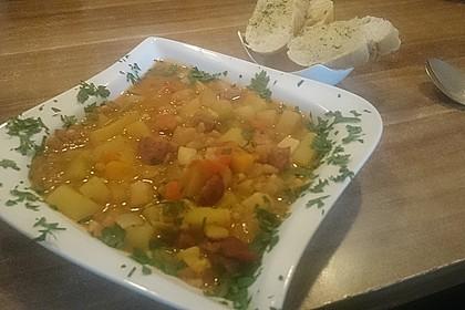 Serbische Bohnensuppe 10