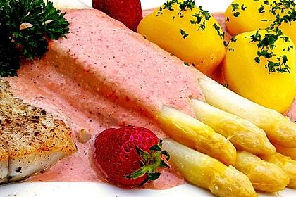 Seelachs mit Spargel und Erdbeeren 2