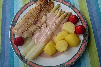 Seelachs mit Spargel und Erdbeeren 4