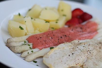 Seelachs mit Spargel und Erdbeeren 6