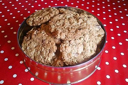 Haferflocken-Kokos Cookies mit Schokotropfen 4