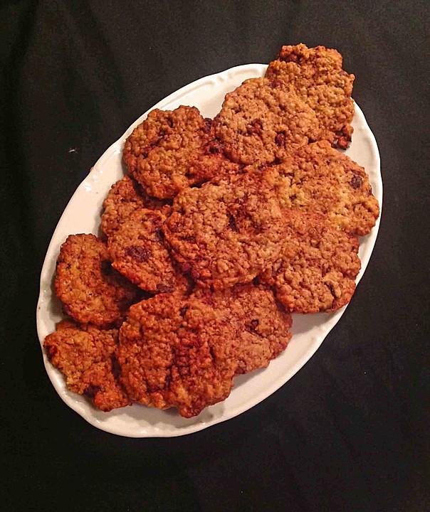 haferflocken kokos cookies mit schokotropfen rezept mit bild. Black Bedroom Furniture Sets. Home Design Ideas