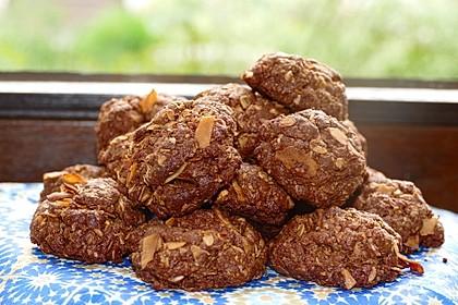 Haferflocken-Kokos Cookies mit Schokotropfen 1