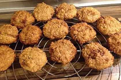 Haferflocken-Kokos Cookies mit Schokotropfen 12