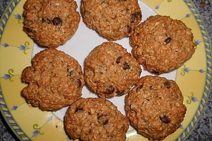 Haferflocken-Kokos Cookies mit Schokotropfen 3