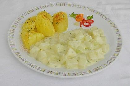 Kohlrabi-Gemüse mit heller Sauce 8