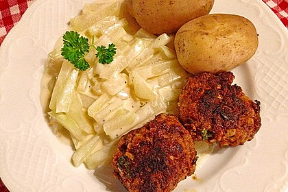 Kohlrabi-Gemüse mit heller Sauce 6