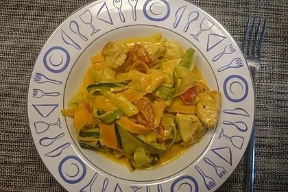 Zucchini-Karotten-Bandnudeln mit Hähnchen und Tomate 24
