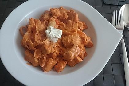 Zucchini-Karotten-Bandnudeln mit Hähnchen und Tomate 35