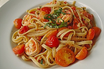 Spaghetti mit Chiligarnelen 0