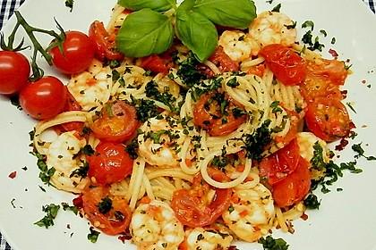 Spaghetti mit Chiligarnelen 4