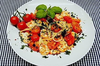 Spaghetti mit Chiligarnelen 5