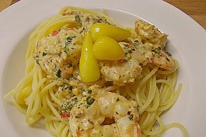 Spaghetti mit Chiligarnelen 8