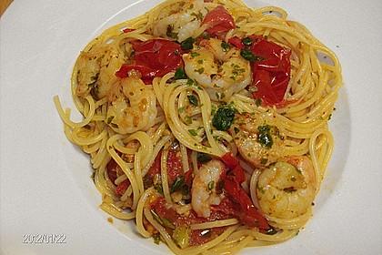 Spaghetti mit Chiligarnelen 10