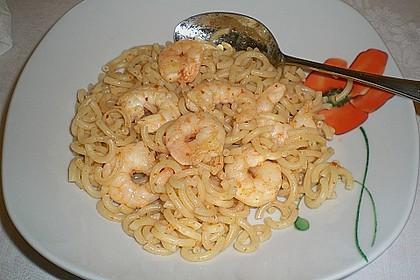 Spaghetti mit Chiligarnelen 12