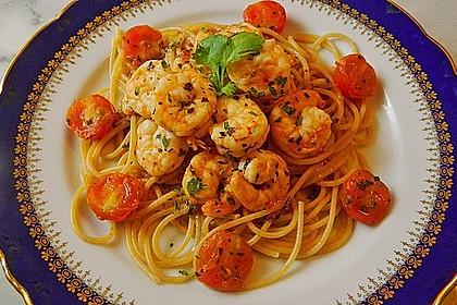 Spaghetti mit Chiligarnelen 1