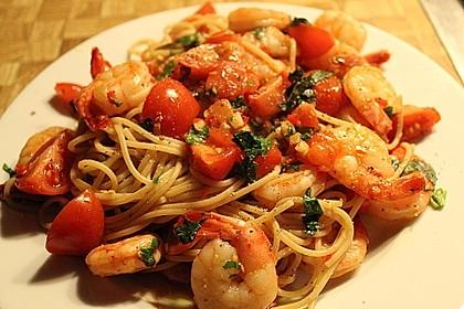 Spaghetti mit Chiligarnelen 3