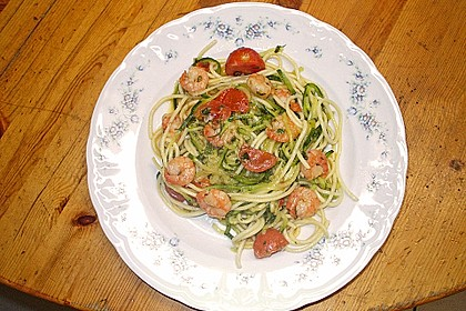 Spaghetti mit Chiligarnelen 11