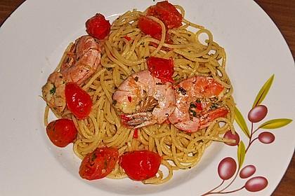 Spaghetti mit Chiligarnelen 2