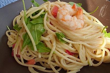 Spaghetti mit Chiligarnelen 7