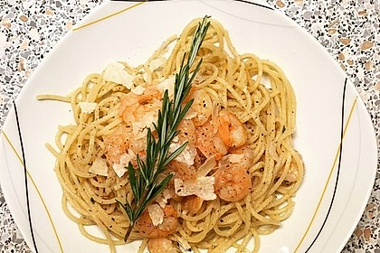 Spaghetti mit Chiligarnelen 21