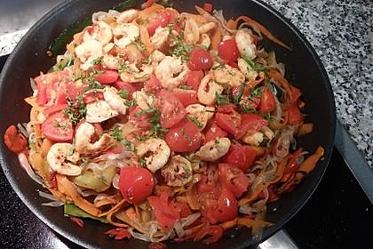 Spaghetti mit Chiligarnelen 14