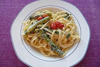 Nudeln mit Spargel, Tomaten und Bärlauch 2
