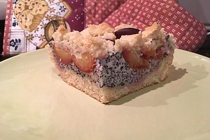 Zwetschgenkuchen mit Mohnquark + Butterstreuseln 11