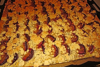 Zwetschgenkuchen mit Mohnquark + Butterstreuseln 26