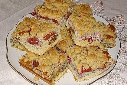 Zwetschgenkuchen mit Mohnquark + Butterstreuseln 29