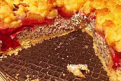 Zwetschgenkuchen mit Mohnquark + Butterstreuseln 16