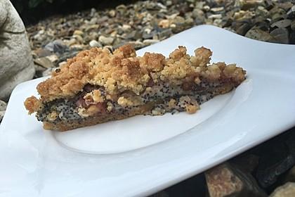 Zwetschgenkuchen mit Mohnquark + Butterstreuseln 10