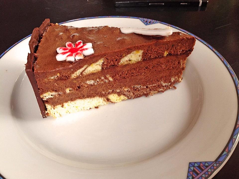 mousse au chocolat torte im schokomantel rezept mit bild. Black Bedroom Furniture Sets. Home Design Ideas