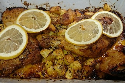 Köstliches Zitronenhähnchen (Bild)