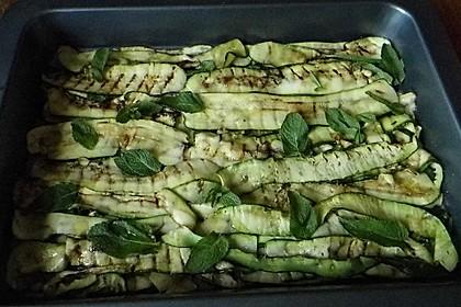 Gegrillte Zucchini mit Minze 2