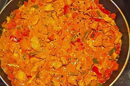 Cremiges Curry-Hühnchen mit Gemüse 18