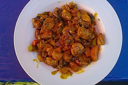 Cremiges Curry-Hühnchen mit Gemüse 21
