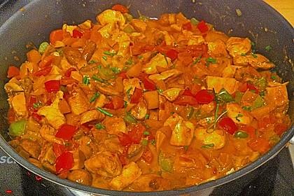 Cremiges Curry-Hühnchen mit Gemüse 11