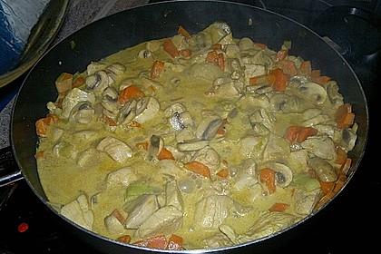 Cremiges Curry-Hühnchen mit Gemüse 10