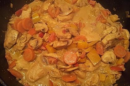 Cremiges Curry-Hühnchen mit Gemüse 28