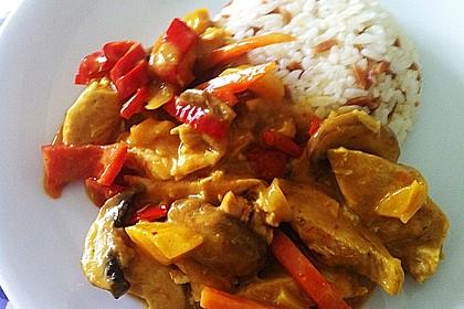 Cremiges Curry-Hühnchen mit Gemüse 9