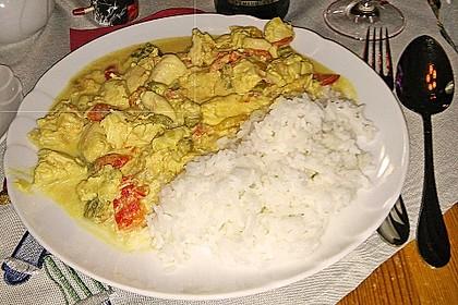 Cremiges Curry-Hühnchen mit Gemüse 2