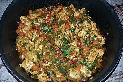 Cremiges Curry-Hühnchen mit Gemüse 26