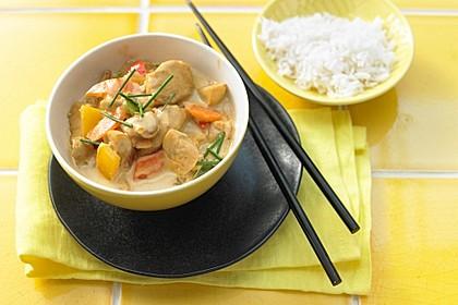 Cremiges Curry-Hühnchen mit Gemüse 4