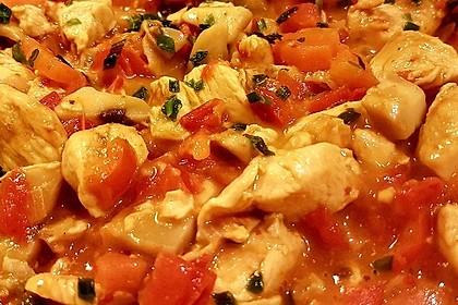 Cremiges Curry-Hühnchen mit Gemüse 15