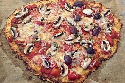 Low Carb Pizzaboden aus Blumenkohl 18